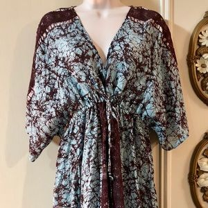 NWOT Free People Cold Shoulder Kimono Sleeve Maxi